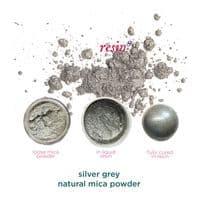 Natural Mica Powder - Silver Grey